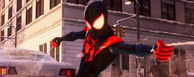Marvel анимировала костюм человека-паука из «Через вселенные» в «Майлзе Моралесе», как в мультфильме