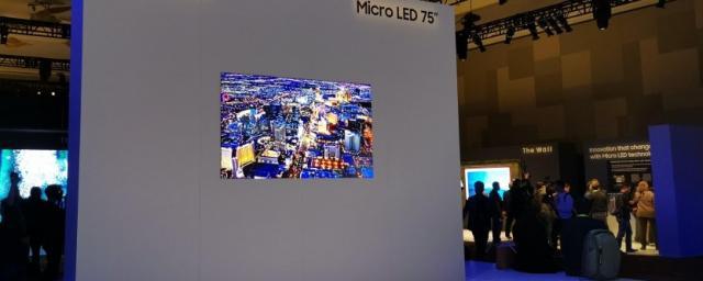 Samsung представит новый телевизор на базе MicroLED