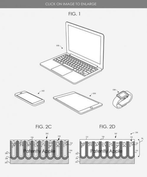 Apple выпустила патент на MacBook с корпусом, поглощающим свет